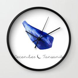 december tanzanite Wall Clock