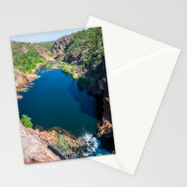 Panoramic view from above at Edith Falls, Australia. Stationery Cards