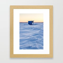 The fishing cabin Framed Art Print