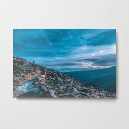 Climbing The Peak - Colorado Metal Print