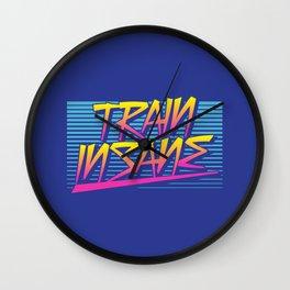 Train Insane Retro Wall Clock