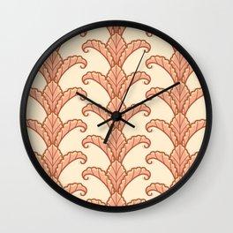 Autumn Leaves Column Pattern Wall Clock