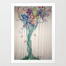 Bleeding Bouquet  Art Print