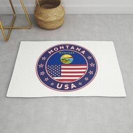 Montana, USA States, Montana t-shirt, Montana sticker, circle Rug