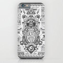 Legend of Zelda inspired Deku Nuts Vintage Advertisement iPhone Case