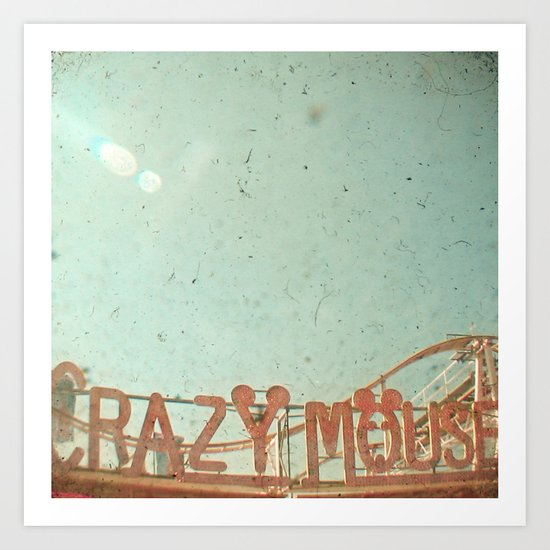 Crazy Mouse Art Print