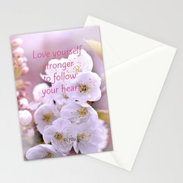 Love yourself  Follow Your Heart Stationery Cards