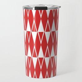 Mid Century Modern Diamond Pattern Red 234 Travel Mug