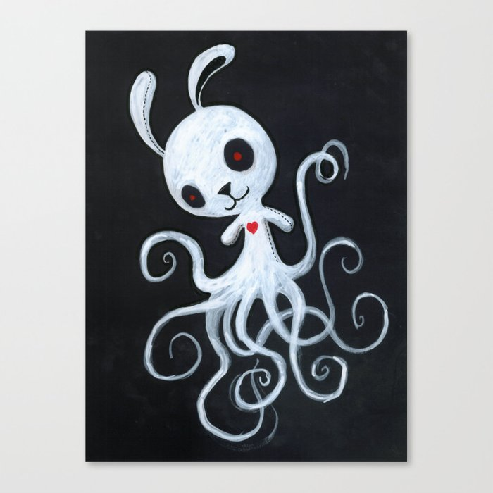 bunnnypus in the dark Canvas Print