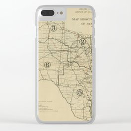 Vintage Texas Highway Map (1917) Clear iPhone Case