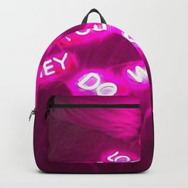 Did we? Backpack