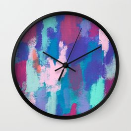 Dream Big no.0 - abstract painting colorful modern art Wall Clock