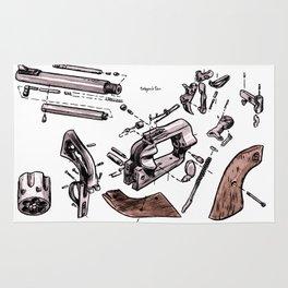 Exploded Gun Rug