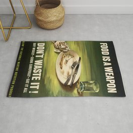 Vintage poster - Food is a Weapon Rug