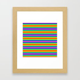 Multi color striped Framed Art Print