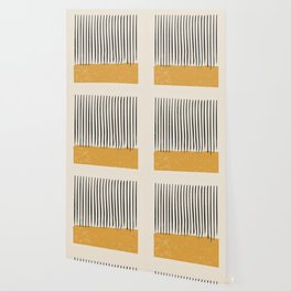 Mid Century Modern Minimalist Rothko Inspired Color Field With Lines Geometric Style Wallpaper