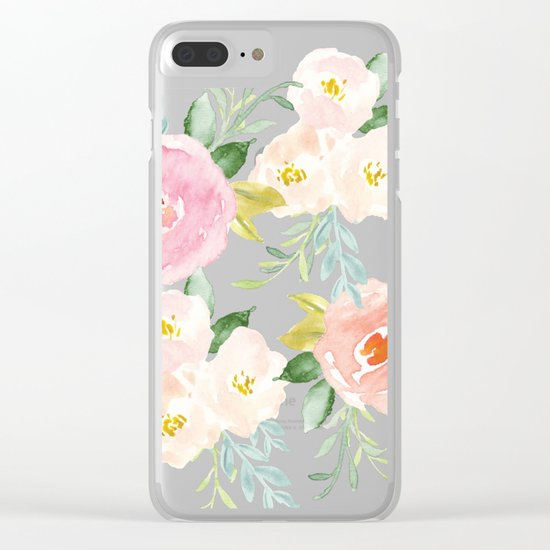 Floral 02 Clear iPhone Case