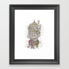 the walking palace Framed Art Print