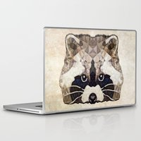 racoon Laptop & iPad Skins featuring Racoon by Ancello