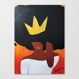 Unbothered (Orange) Canvas Print