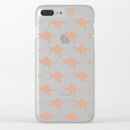 Spinosaurus comes to breakfast Clear iPhone Case