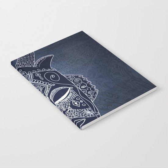 Horned Tribal Mask (color version) Notebook