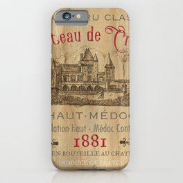 Barrel Wine Label 1 iPhone Case