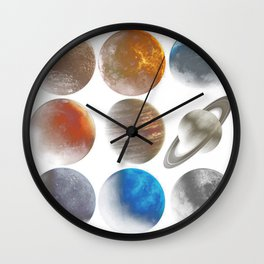 The Nine Planets Wall Clock