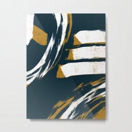 Master Plan Abstract Painting Metal Print