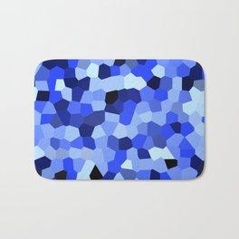 Geometric Blues Bath Mat