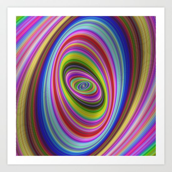 Colorful hypnosis Art Print