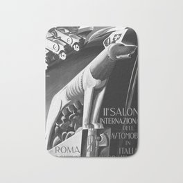 old 1929 Salone Internazionale dell Automobile poster vintage Poster Bath Mat