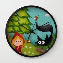 Caperucita Roja - Little Red Riding Hood  Wall Clock