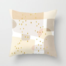 Conglomeration in Cream Throw Pillow
