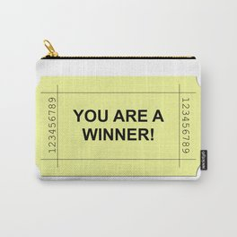 Ticket Yellow Carry-All Pouch
