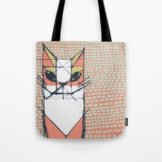 Cubist Cat Study #7 by Friztin Tote Bag