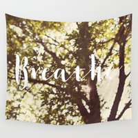 breathe Wall Tapestries featuring Breathe by Alicia Bock