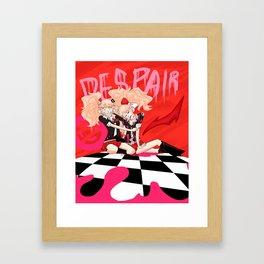 Despairing Sisters Framed Art Print