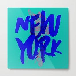 Place: New York Metal Print