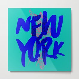 Place: New York Metal Print