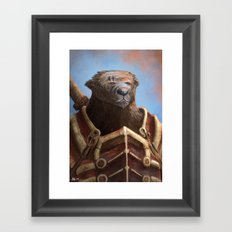 Bear Warrior Framed Art Print
