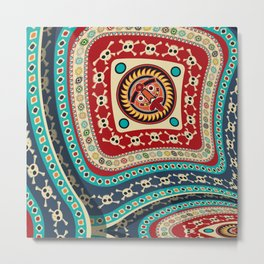 Abstract tribal background Metal Print