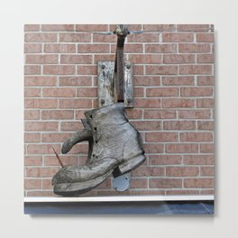 Wooden Boot Metal Print