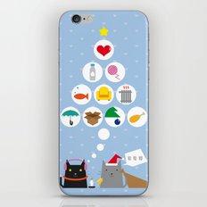 Santa Cat iPhone & iPod Skin