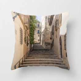Town Street Throw Pillow