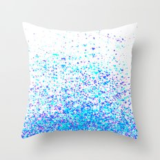 sparkly blue Throw Pillow