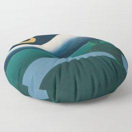 Tarsila do Amaral - A Lua - Art Poster Floor Pillow