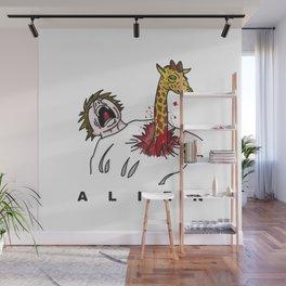 Alien Jirafa Wall Mural