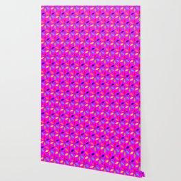 flowery magenta sheild Wallpaper