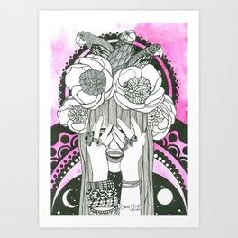Hommage to Hindi Zahra Art Print